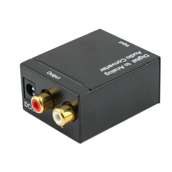 Digital Adaptador Optic Coaxial RCA Toslink sinal para analógico Audio Converter cabo adaptador