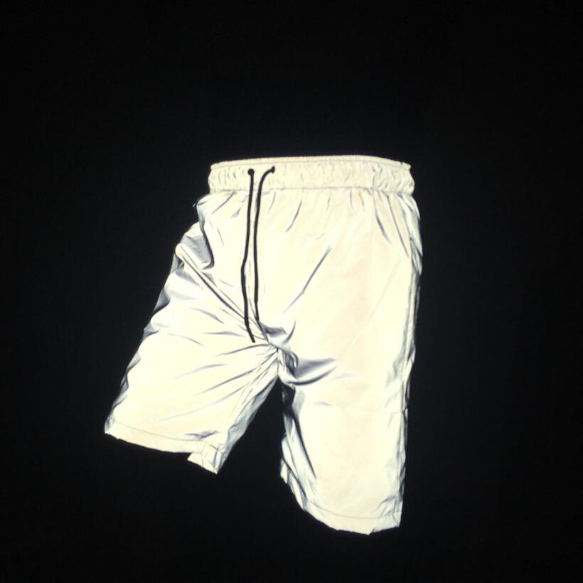 Hot vente hommes shorts réfléchissants hip hop streerwear nuit mode de mens de joggeurs masculino brillant court bermuda taille plus 3XL MX200324