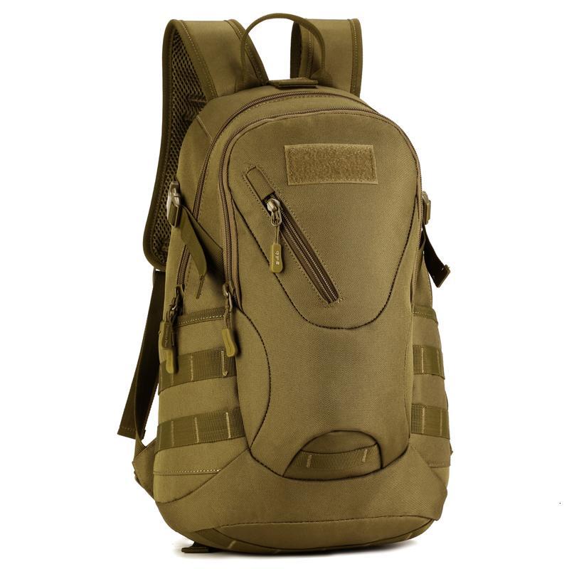 20L impermeabile di viaggio esterno in bicicletta zaino militare tattico di Molle dell'esercito del sacchetto d'escursione di campeggio Zaino durevole sacchetto di scuola T190922