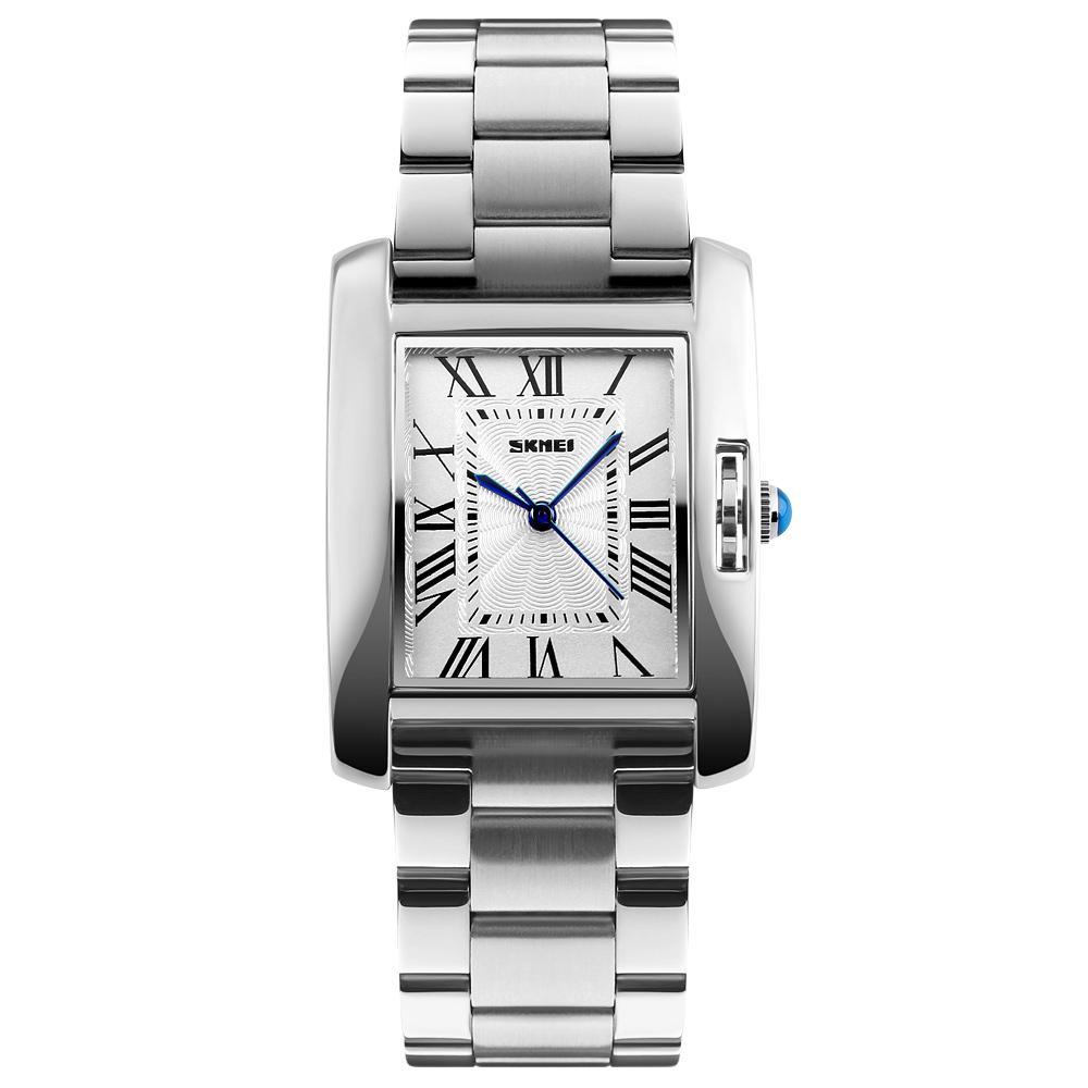 Marken-Quarz-Uhr-wasserdicht Frauen-Uhr-voller Stahl Mode Damen-Frauen-Armbanduhr Relógio feminino 1284