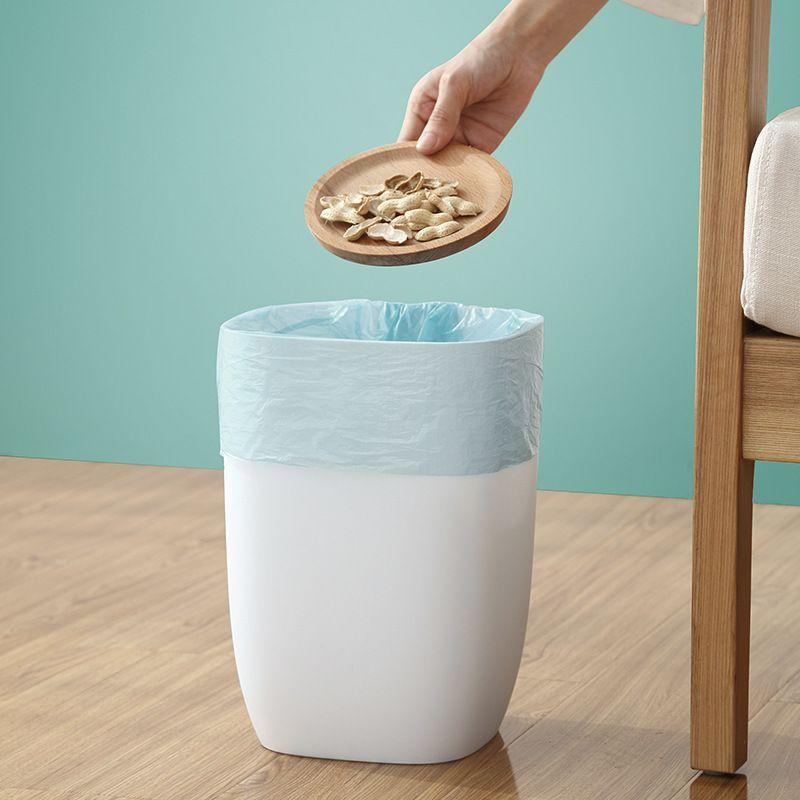 Simple Single-layer Trash Can Household Living Room Plastic Bedroom Bathroom Household Creative Kitchen Large Wastebasket