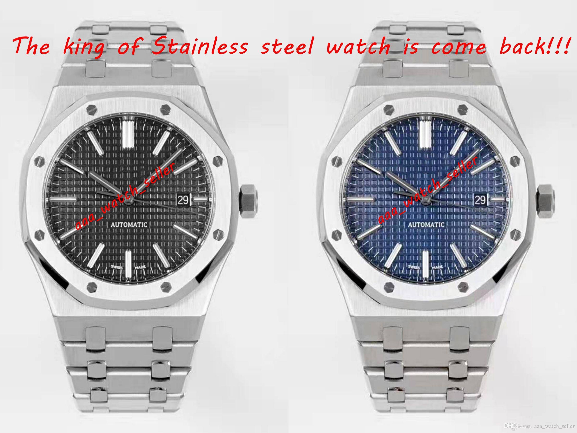 2 Стили Высокое качество Роскошные Мужские Часы Royal Oak 15400 15407 15500 15202 Miyota 9015 Автоматическое движение Нержавеющая Сталь Водонепроницаемый 100М