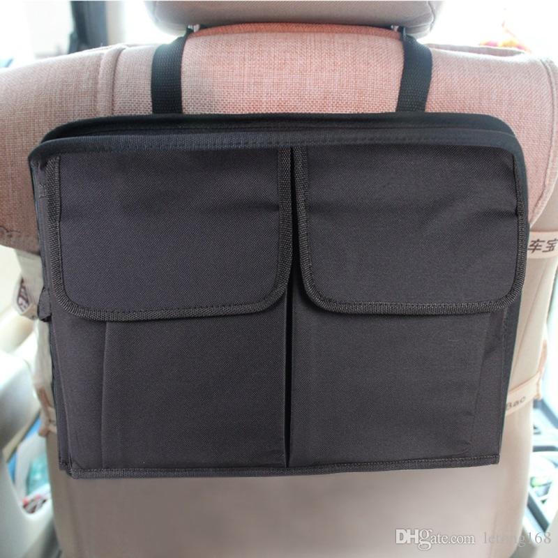 Bolsa de almacenamiento de asiento trasero del coche Percha reposacabezas de coches bolsa, Tamaño: 38,7 * 28 * 3cm