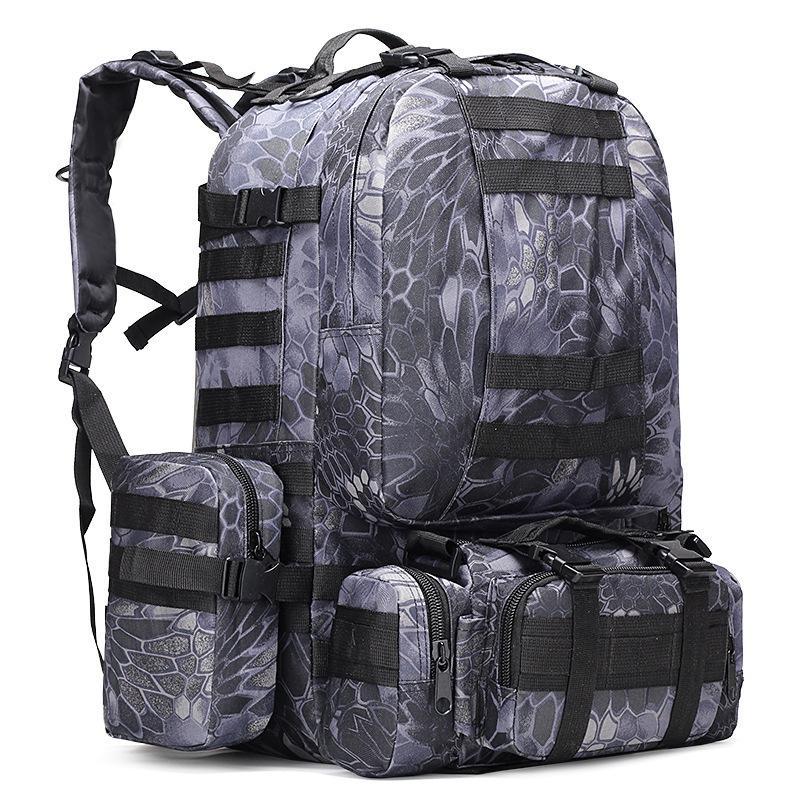Askeri Taktik Sırt çantası Oxford Kamuflaj Seyahat Sırt Açık Kamp Yürüyüş Çanta Su geçirmez Ordu Sırt Çantası Saklama Poşetleri GGA3129-5