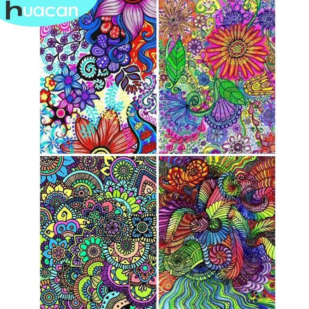 wholesale Diamond Embroidery Flower Diamond Painting 5D DIY Full Square Mosaic Picture Of Rhinestone Home Decoration Gift Handmade