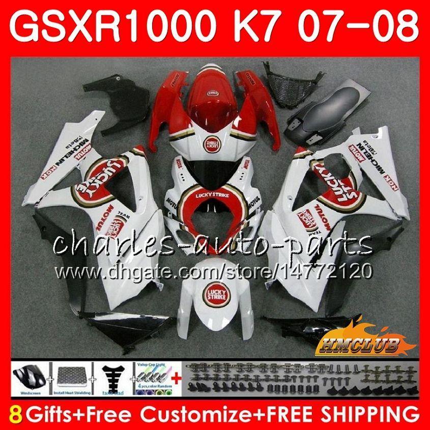 Suzuki GSXR-1000 Rucky Red Hot GSXR1000 2007 07 08 Bodys 12HC.13 GSX R1000 GSX-R1000 K7 GSXR 1000 07 08 ABS 페어링 키트