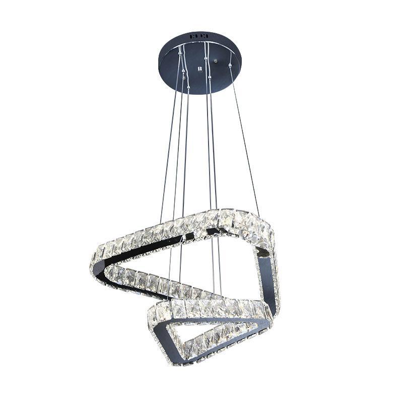 Oda Living Room Yemek için Kristal kolye fenerler Dim 3 renk kristal asılı tavan ışıkları