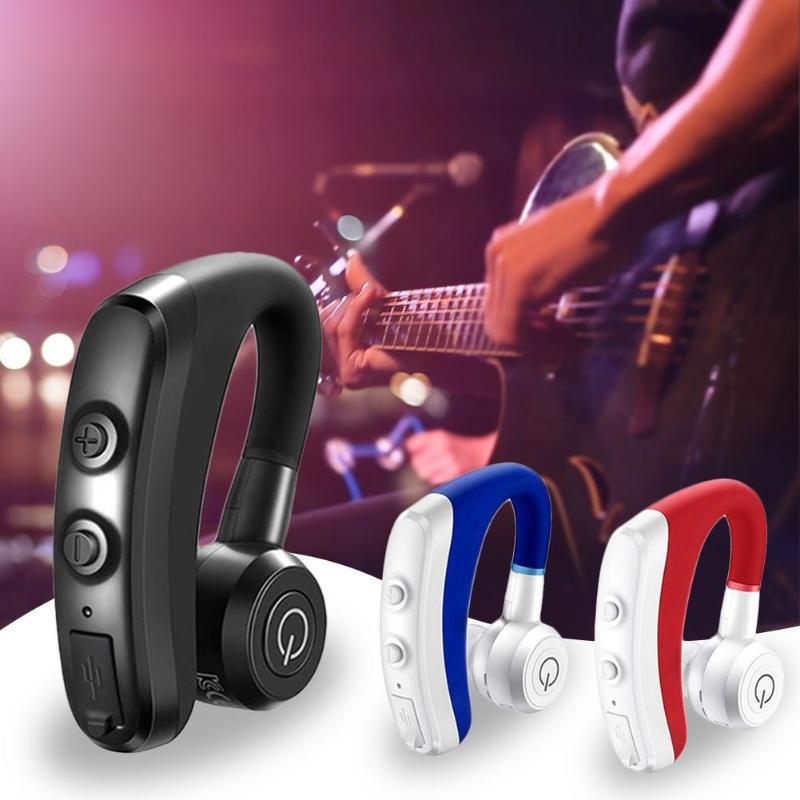 high quality Bluetooth Earphone Ear-hook headphones Handsfree Wireless Headsets with Mic long-last voice control answering