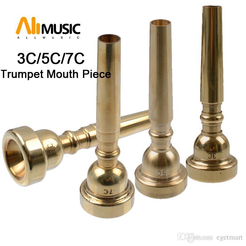 3ppcs/sets High Quality chrome/Gold Professional Trumpet 3C/5/7C Mouth Piece Mouthpiece