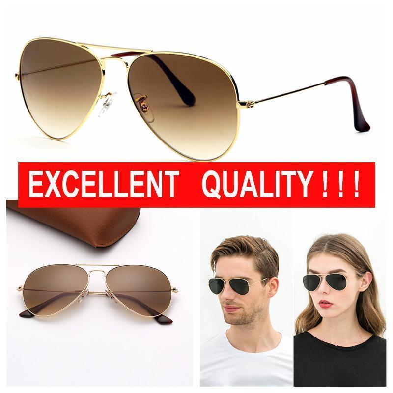 Mens Designer-Sonnenbrillen Pilot Marken-Sonnenbrille Frauen Mode Sonnenbrillen UV-Schutz-Gläser Objektive Des Lunettes De Soleil mit freiem Fall