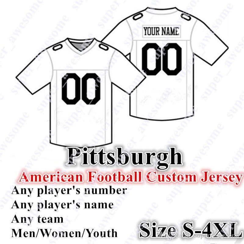 4xl Personalizado Pittsburgh Jersey 2 Rudolph 30 Conner 90 Watt 19 Smith-Schuster 89 McDonald 55 Bush 20 Bleier 36 Bettis 43 Polamalu