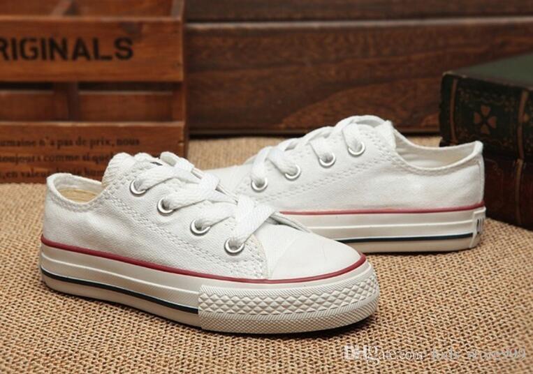 vendita all'ingrosso! bambini scarpe di tela di alta moda - i ragazzi ragazze scarpe di tela sport e scarpe sportive per bambini stella basse Sneakers