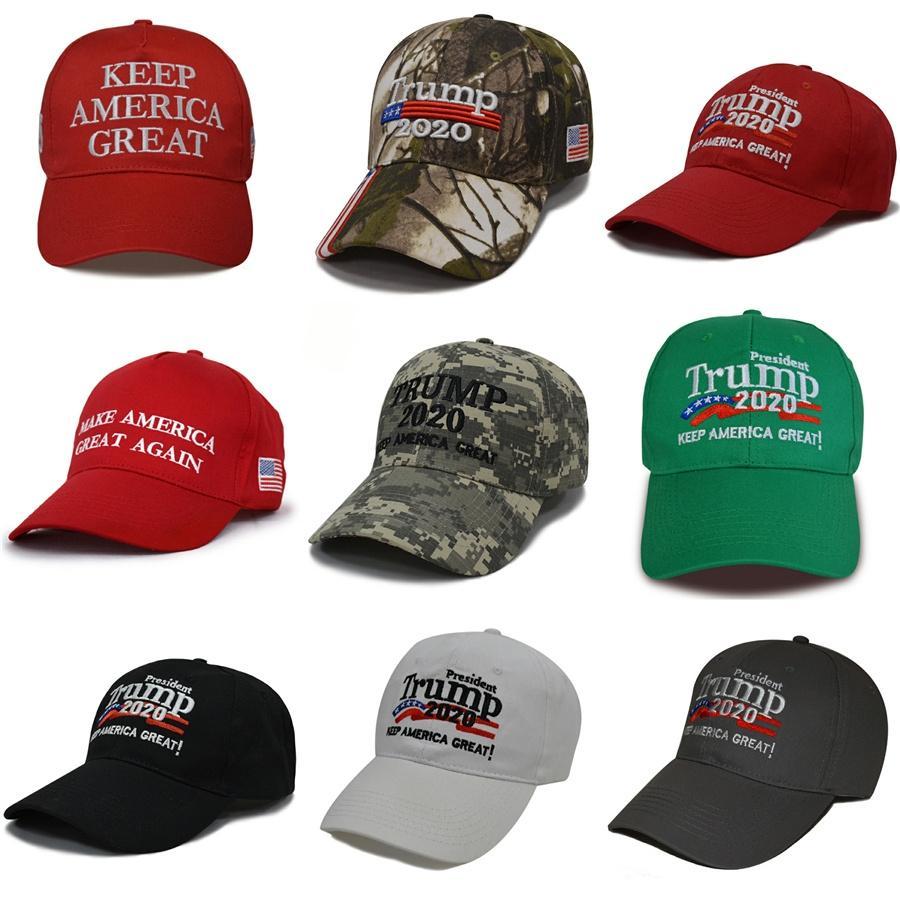Trump 2020 Hüte Donald Baseball Caps Ball des Sports Hat Amerika Republikanische USA-Flaggen-Caps Machen Sie Amerika groß wieder Hutstrand Sonnenhut Ltyp17 # 739