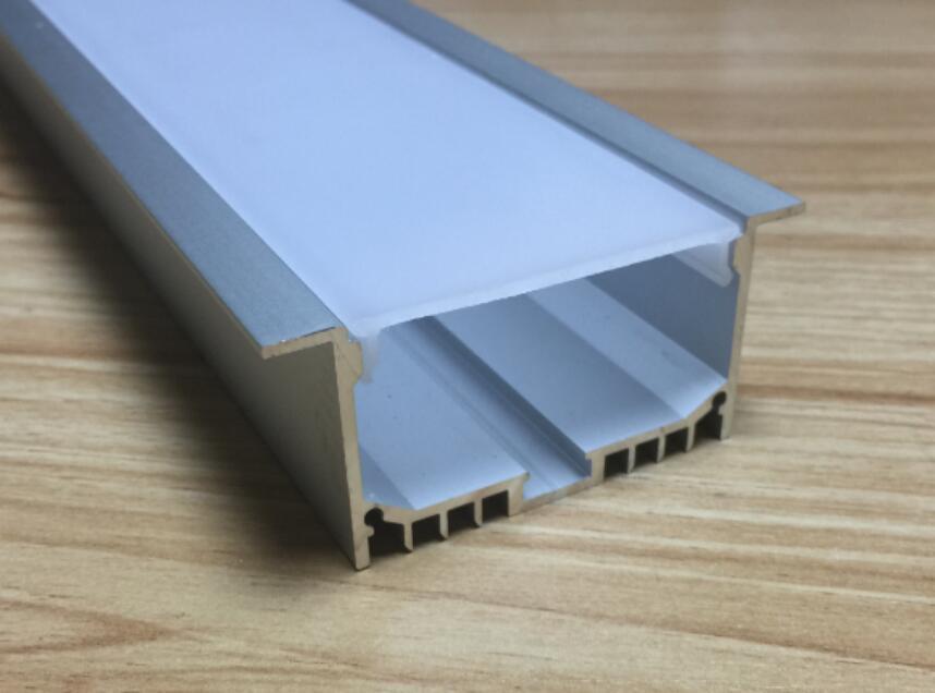 Perfil frete grátis Led alumínio (anodizado Cor Prata) Com Tiras Pc Capa Para flexível ou disco Led