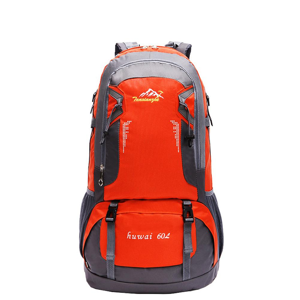 Outdoor Camping Hiking Waterproof Travel Backpack 60 L Nylon Sports double shoulder Bag Mountain Climbing Backpack