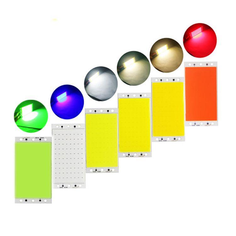 94 * 50mm 15W COB LED Strip Lampe Lampe Ampoule 12V Blanc Blanc Bleue Vert Vert Fippe à bord pour DIY Travail Lights Crestech