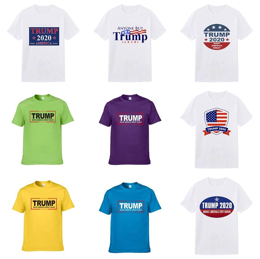 Stampato Trump T-shirt, t-shirt casual Via Trump, Mens T Shirt di lusso stampato maniche corte da uomo estate delle donne del progettista Trump T-shirt casual Co