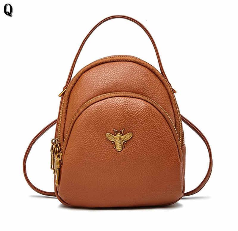 Tasarımcı-Lüks Mini Sırt Çantaları Omuz Haberleri Deri Çanta Küçük PU Sevimli Kadın Sırt Çantası Okul Yüksek Çanta Arı Bayanlar Kalite QKMRG