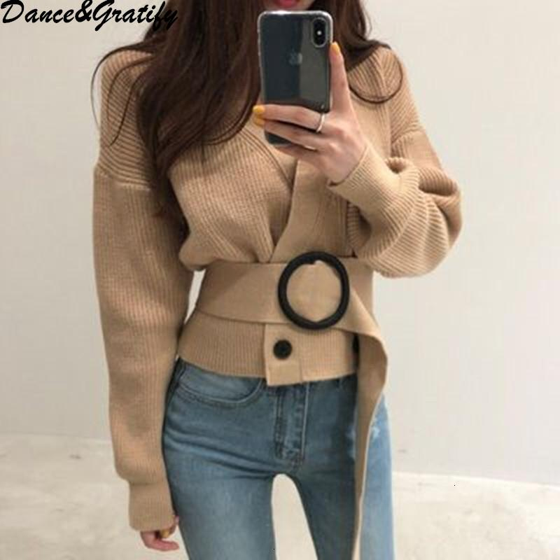 Neue Herbst Winter Hohe Qualität Frauen Zweireiher übergroße lose Strickjacke Casual V-Ausschnitt Chic Strick Pullover Jacke MATERMX190926