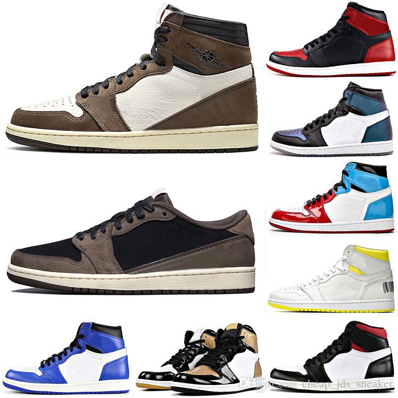 Moda Erkekler Açık Basketbol Ayakkabı Travis Scotts Jumpman 1s Yüksek OG TS SP TURBO YEŞİL Erkek 1 First Class Uçuş Spor Sneakers