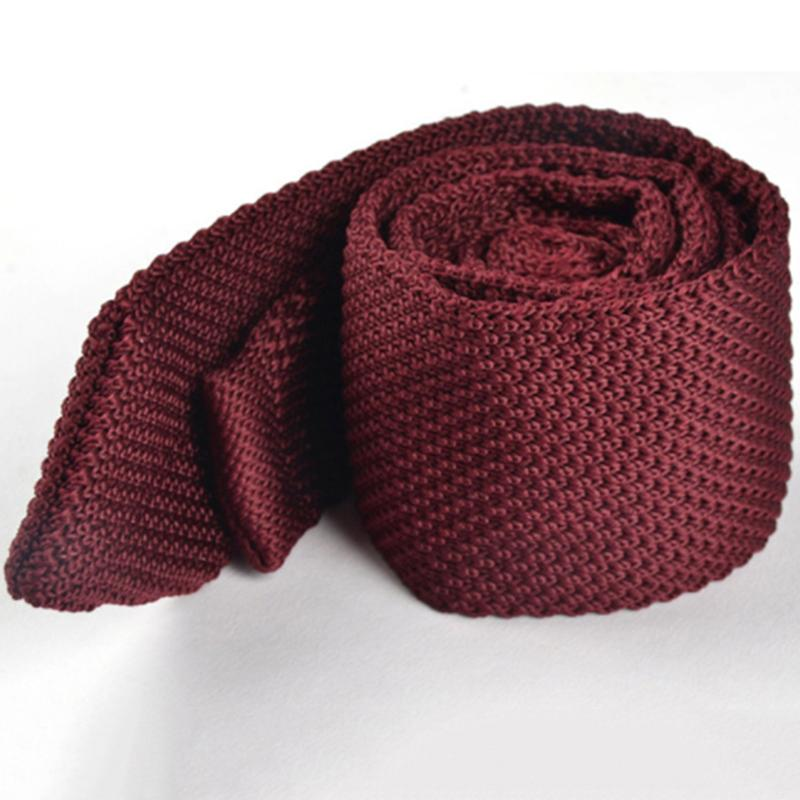 Wedding Suits Knitted Mens Ties Striped&Solid Polyester Neck Tie Skinny Woven Neckties Gifts