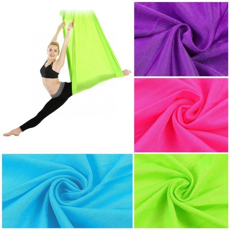 2.8m Durable Elastic Aerial Yoga Hammock Swing Fitness Workout Training Equipment