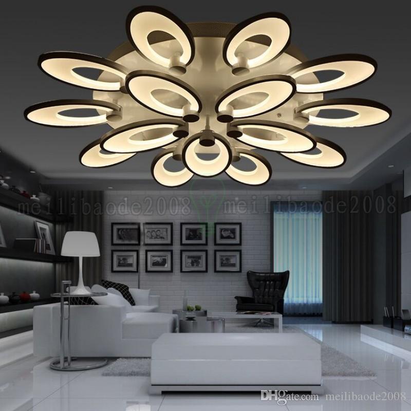 Acrílico LED Endless Dimming Lámparas de techo Flor atmosférica moderna Luces creativas simples Iluminación de la personalidad para el dormitorio Sala de estar