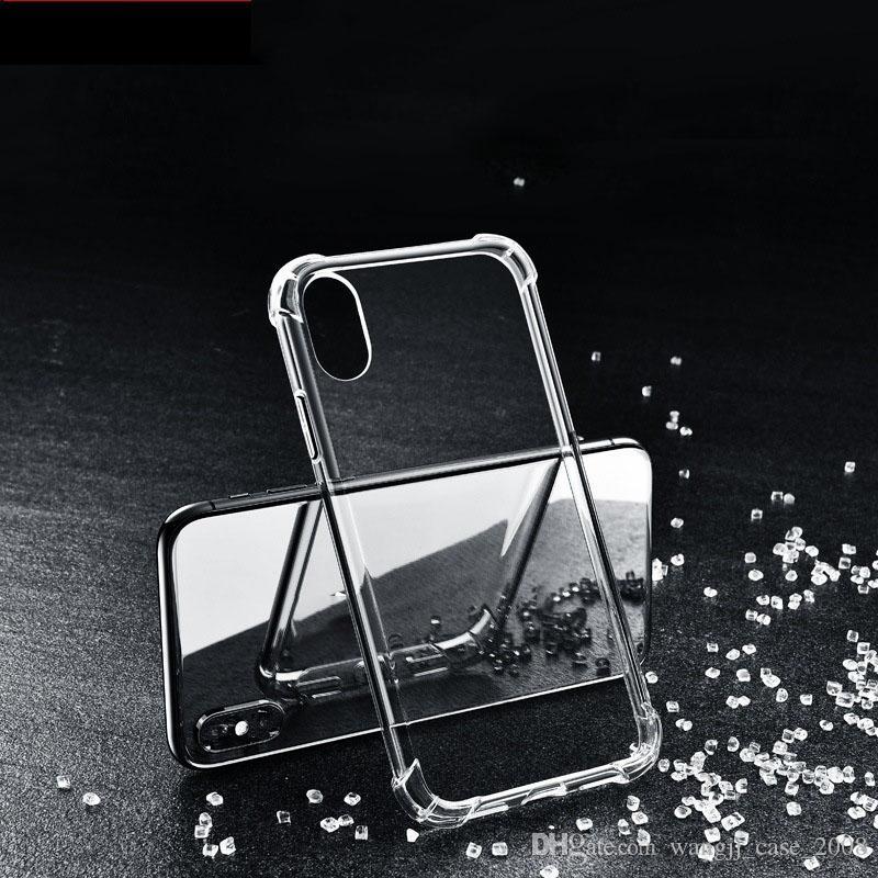 حالة شفافة TPU ل iPhone12 8plus 11 XR حالة لينة غطاء سيليكون لينة غطاء رقيقة واضحة الهاتف عودة درع iphone 6S 7plus