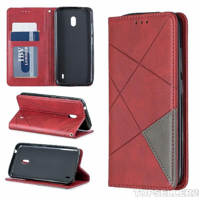 Pour NOKIA 2.2 Case Prismatic Magnetic Attraction cuir Designer Téléphone Case B329