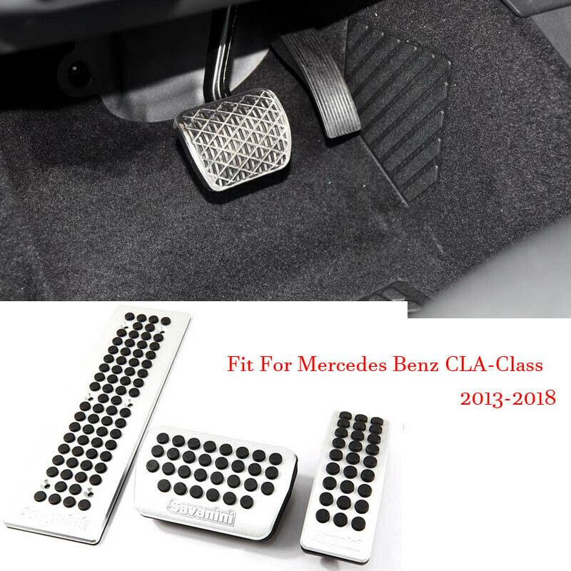Car Alloy Accelerator Gas Brake Footrest Pedal Plate Pad Cover For Mercedes CLA250 2013-218