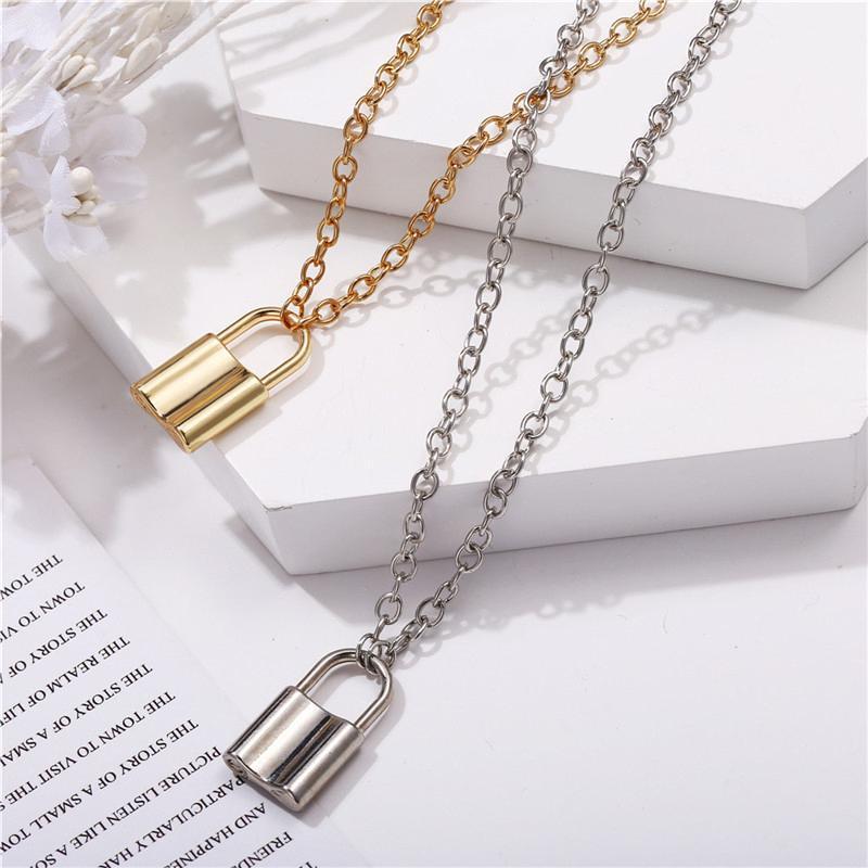 Luxus-Schmuck-Silber Rose Lock Anhänger Designer Luxuxqualitäts Halskette 18K Gold aus rostfreiem dünne Kette Frauen Halsketten arbeiten sty29bc #
