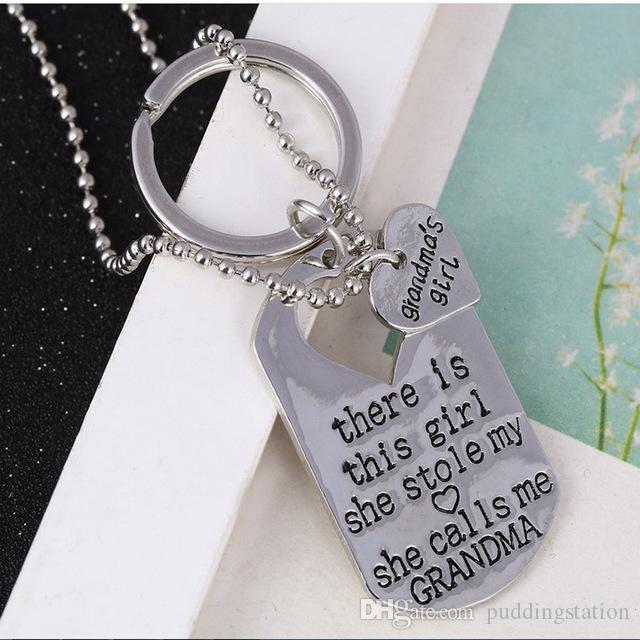 세련된 핫 편지 하트 목걸이 키 체인 키 Aneis 목걸이 쥬얼리 아빠 딸 아빠 아버지 소녀 선물 Pendientes 장식품