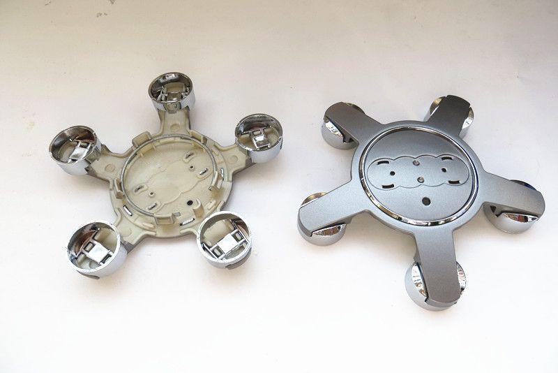 100pcs 5.25inch 135mm 5claw/pins car Wheel Center Hub Cap gray covers Car Emblem for Audi A1/A2/A3/A4/A5/A6/A7/A8/R8/S/RS id:4f0601165n