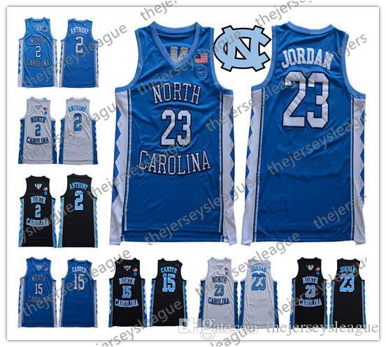 Классический North Carolina Tar Heels # 2 Коул Энтони 23 Майкл 15 Винс Картер 2019 Новый UNC College Basketball трикотажных изделий S-3XL