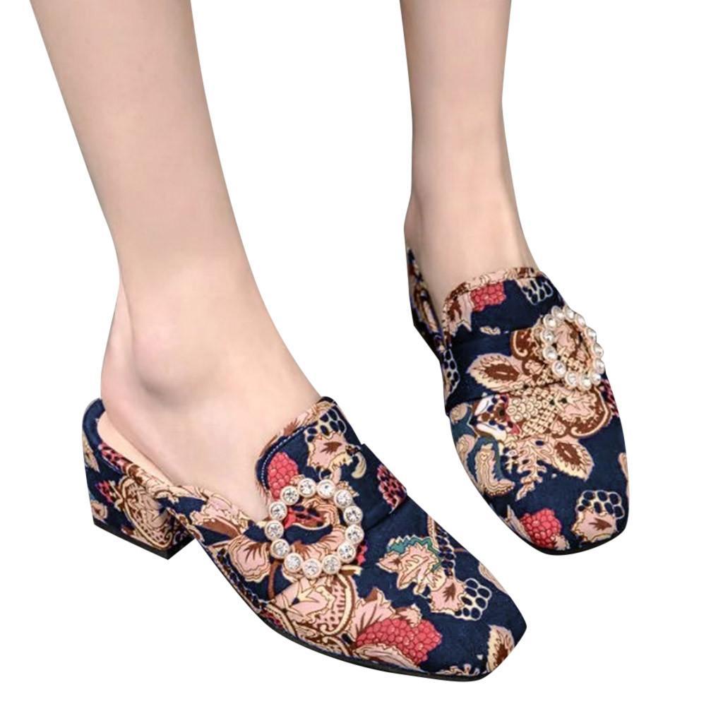 poco profunda cuña zapatos ocasionales del verano de sagace mujeres con tacón de cuña con tacón alto modelo paño patrón zapatos cómodos 2020