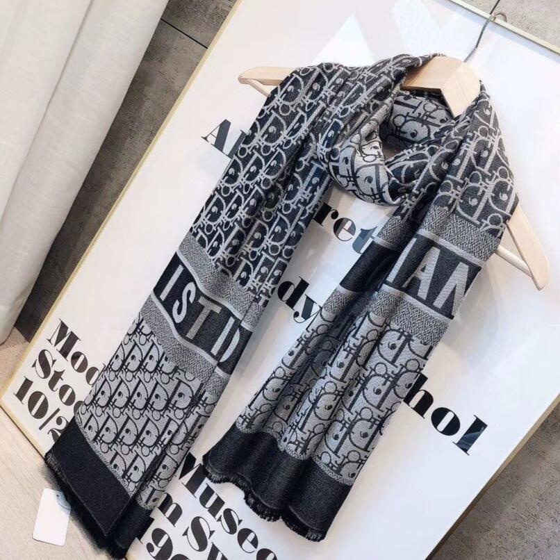 2020 Qualità lusso colorato lettera Designers sciarpa di seta donne Lettera dello scialle famoso Dior Sciarpe Instock