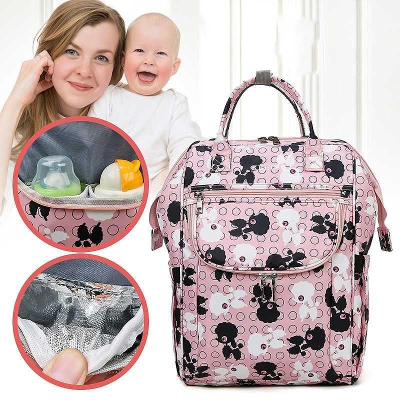 Multifuncional Mummy saco de moda mu Casual Backpack Capacidade ying bao Maternidade Waterproof Bags Enfermagem Fralda Mochila Saco do bebê