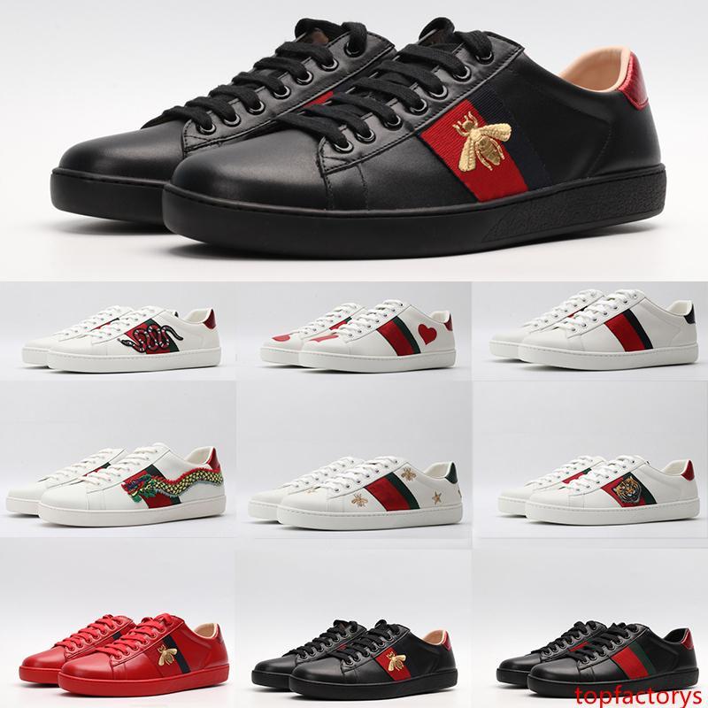 ACE chaussures en cuir homme mode femme luxe Designer Bee Étoile Serpent Tigre Rouge Vert Stripes Flats Bas Casual chaussures Vintage __gVirt_NP_NN_NNPS<__ baskets plate-forme
