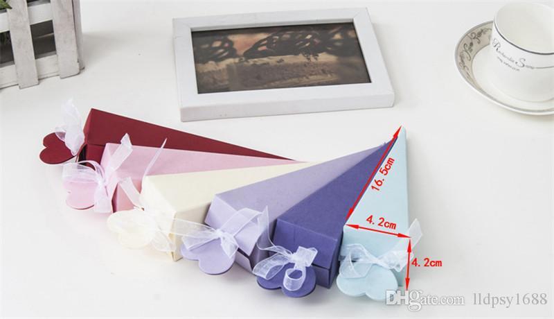 Renkli Yeni Yaratıcı Dondurma Koni Şekli Şeker Kutuları Düğün Parti Malzemeleri Şekeri Bebek Duş Teşekkürler Hediye Kutusu Hatıra Ambalaj Kutusu