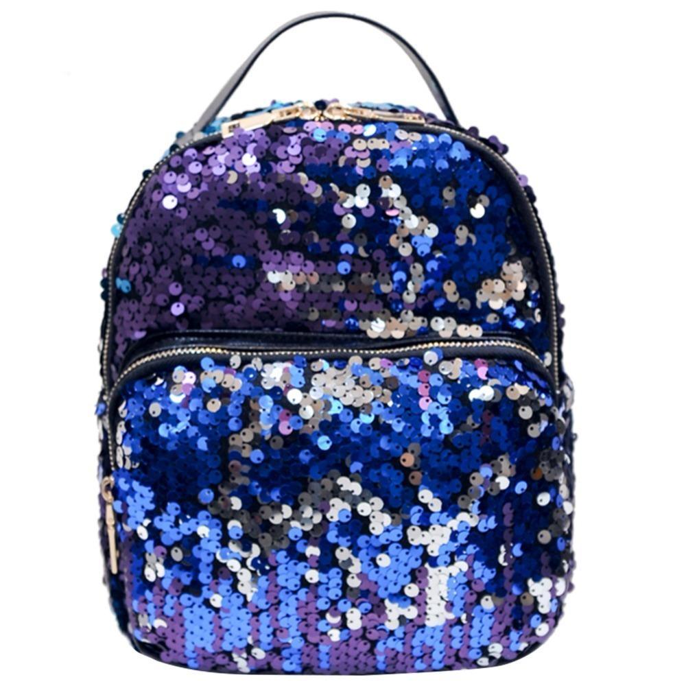 PU Bagpack Mochila Feminina Rucksack backpack female fashion travel bag,Blue