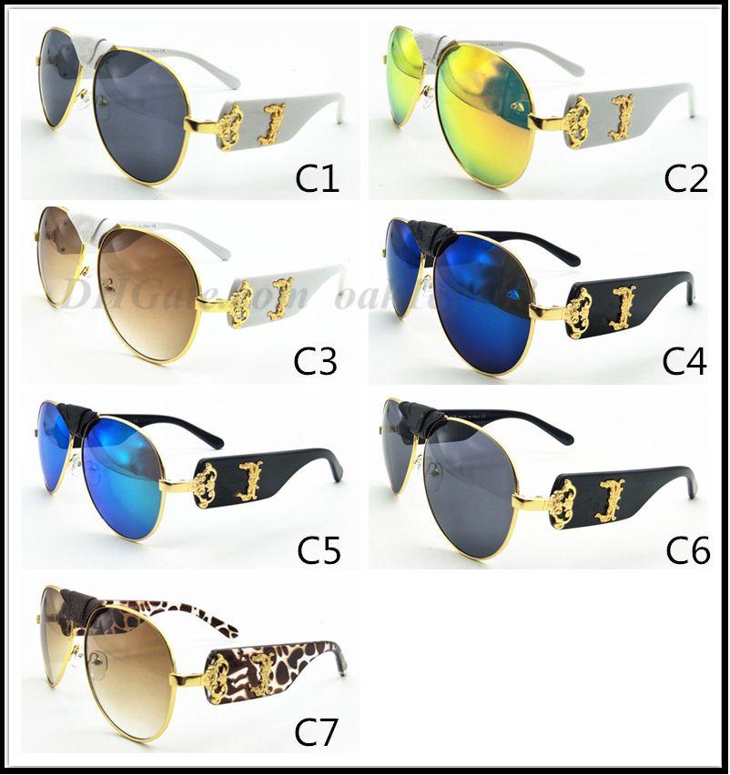 VE 2150 فاخرة نظارات معدنية الطيار حماية من الأشعة فوق أزياء الرجال العلامة التجارية مصمم للأشعة فوق البنفسجية حماية عدسة الصيف نمط