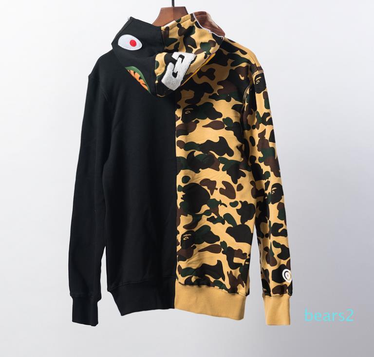 5 Couleur Automne et Hiver camouflage d'impression plus velours à manches longues Pull pour hommes Casual Veste à capuche