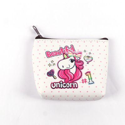 wholesale Unicorn Purses Girls Women Wallet Fold Pocket Bags Pink Rose Cartoon Stationery Storage Organizer Bag Kids Gift Purses C2