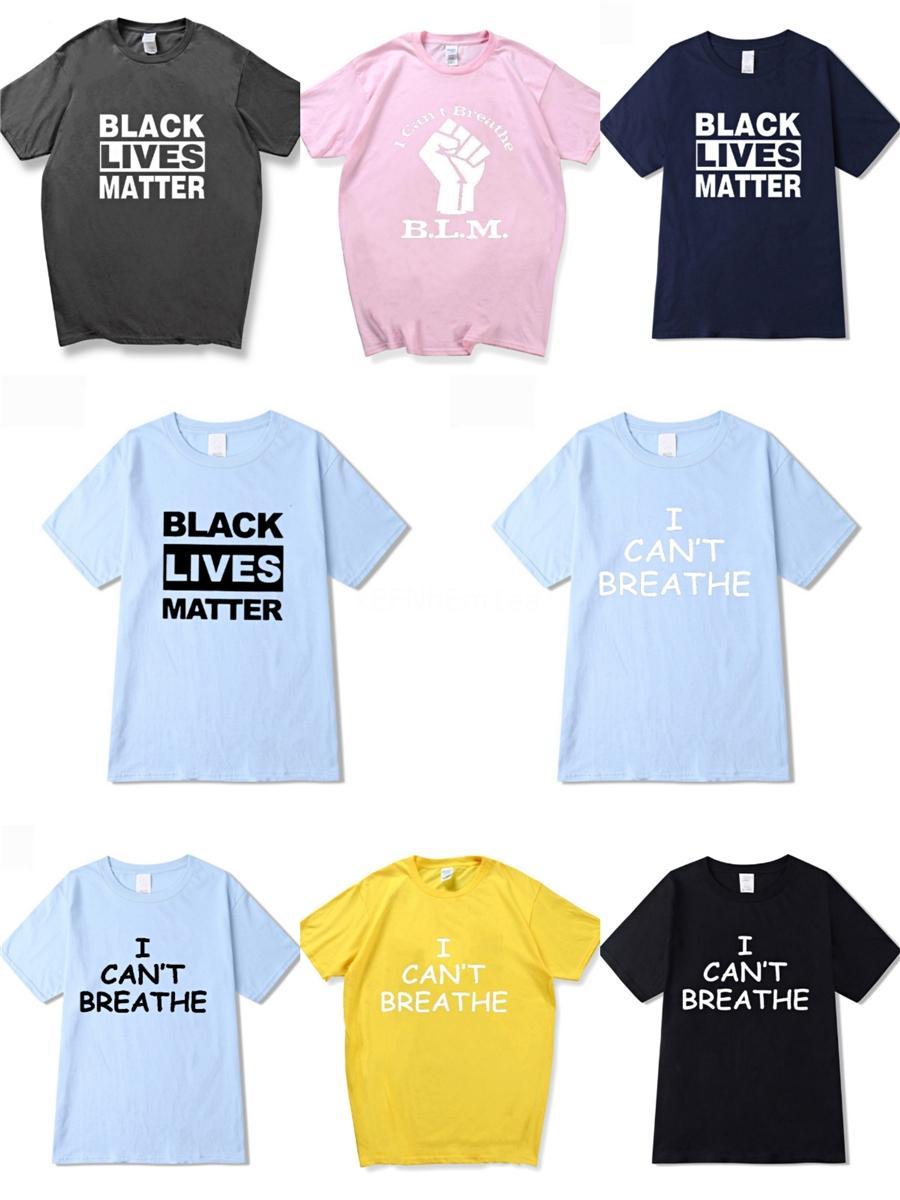 I Cant Breathe! Nouveau été Designer T-shirts femmes T-shirts de marque T-shirt Lettre Marque Modèle Vêtements pour hommes manches courtes T-shirt décontracté T-Shir # 37