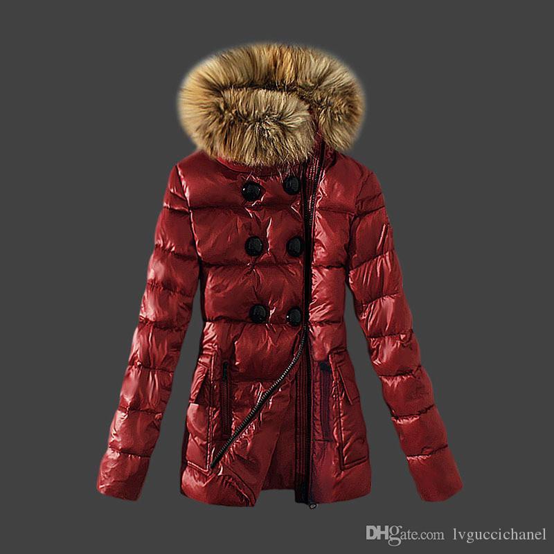 Klassische Marke Frauen Winter Warme Daunenjacke Mit pelzkragen Feder Kleid Jacken Frauen Outdoor Daunenmantel Frau Mode Jacke Parkas M3002
