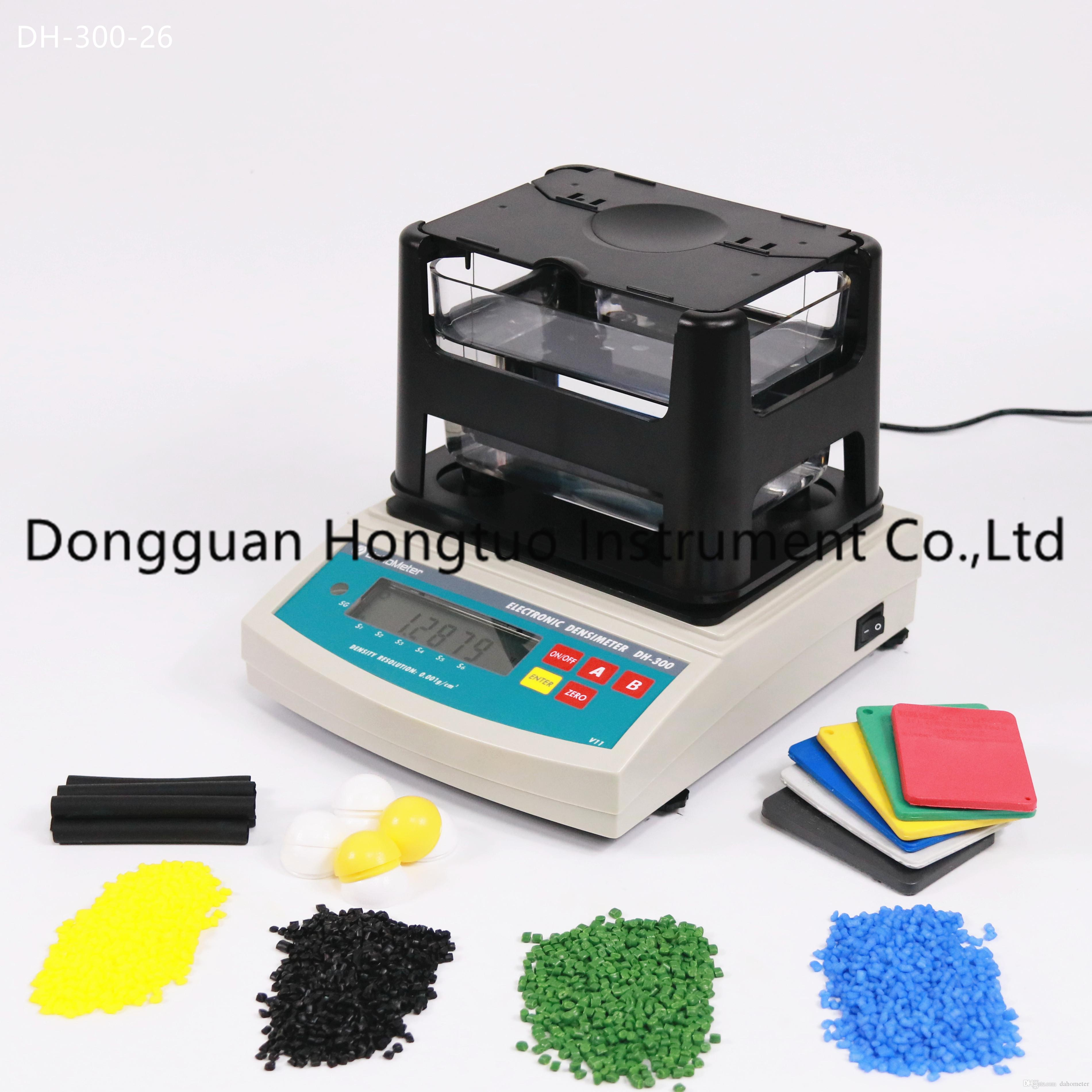 DH-300 Popüler Tedarikçisi Kauçuk Elektronik Densimetre, Ham Plastik Yoğunluk Ölçer, En Kaliteli Plastik Yoğunluk Test Cihazı