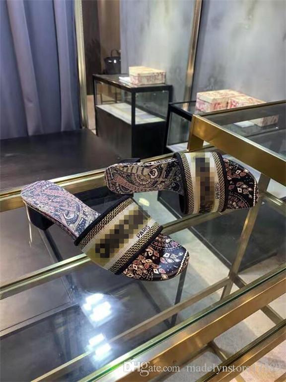 N16 dernière nouvelle pantoufles haut talons hauts populaires flip-flops pantoufles sandales décontractée de la mode féminine de haute qualité talons été talon 4.5cm