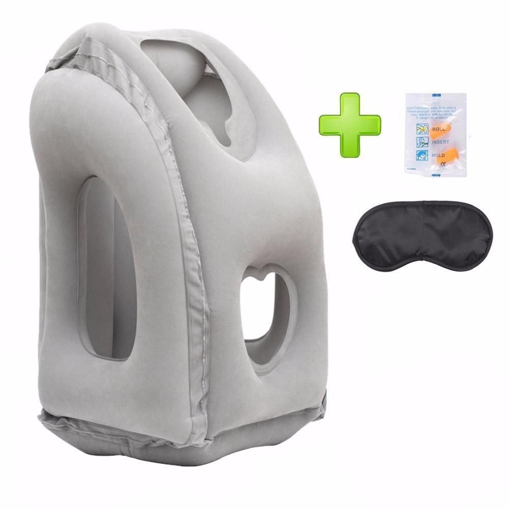Inflatable Travel Pillow Airplane Neck Pillow and Head Support Pillow for Sleeping on the Airplane Train Car Home Office T200629