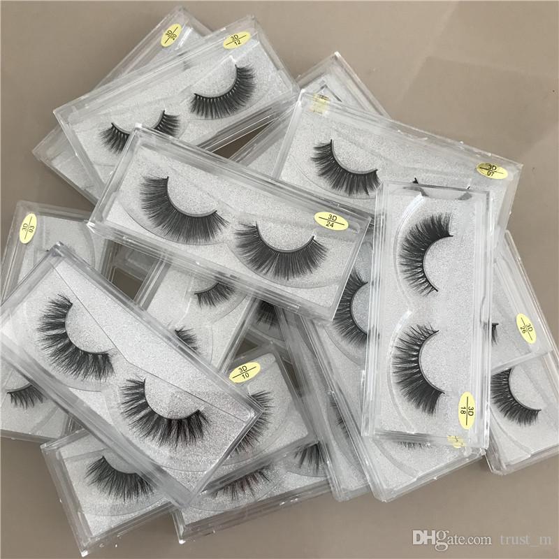3D 속눈썹 가짜 속눈썹 (17 개) 스타일 핸드 메이드 뷰티 두꺼운 소프트 속눈썹 가짜 눈 속눈썹 속눈썹 DHL의 무료