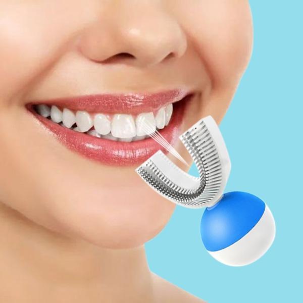 En forma de U Automático ultrasónico Sonic Cepillo de dientes eléctrico 360 grados Limpiador ultrasónico de dientes para personas perezosas Cepillo de dientes eléctrico AB